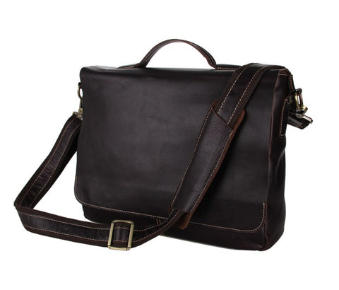 SuitedMan Briefcase/Messenger Bag, Chocolate