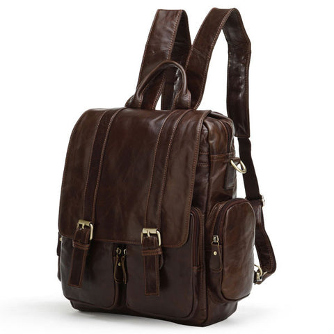 SuitedMan Backpack/Messenger Bag, Cognac