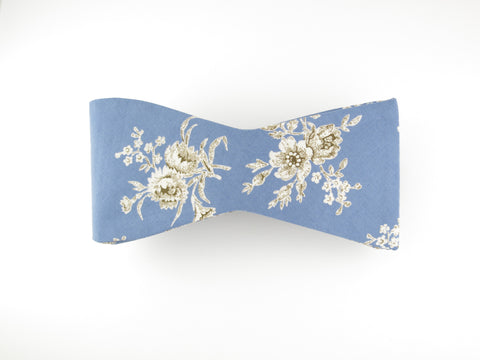 Floral Bow Tie, Blue Victorian