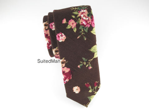 Floral Tie, Petite Autumn Bloom - SuitedMan