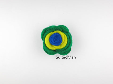 Lapel Flower, Felt, Colorblock, Brazil - SuitedMan