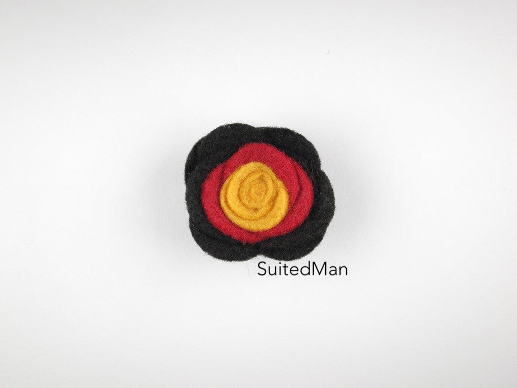 Lapel Flower, Felt, Colorblock, Germany - SuitedMan