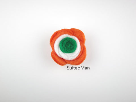 Lapel Flower, Felt, Colorblock, India