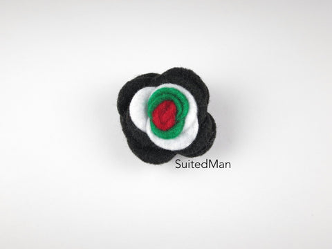 Lapel Flower, Felt, Colorblock, UAE - SuitedMan