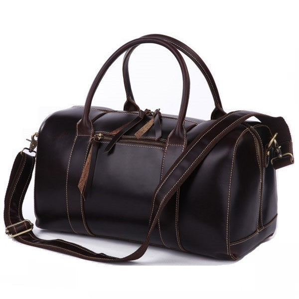 SuitedMan Travel Bag, Chocolate Leather - SuitedMan