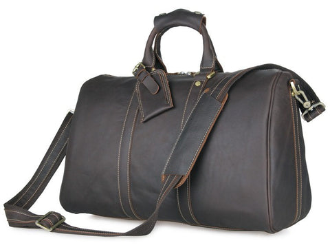 SuitedMan Travel Bag, Vintage Chocolate Leather