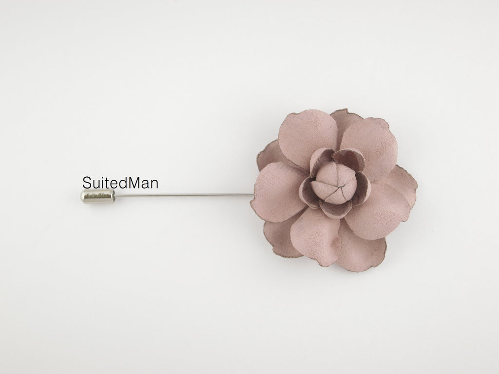 Lapel Flower, Rose en Bloom, Dusty Pink - SuitedMan