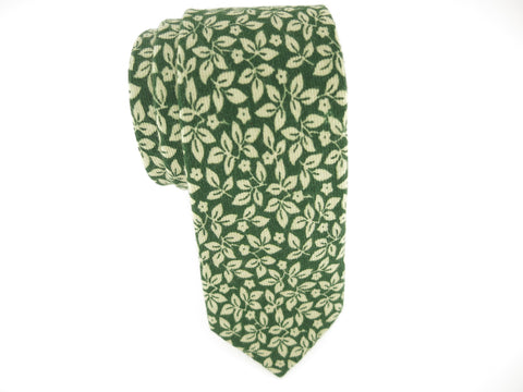 Floral Tie, Emerald Leaves