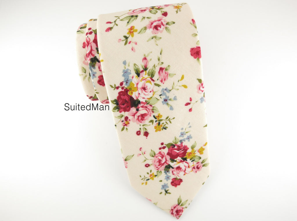 Floral Tie, English Rose - SuitedMan