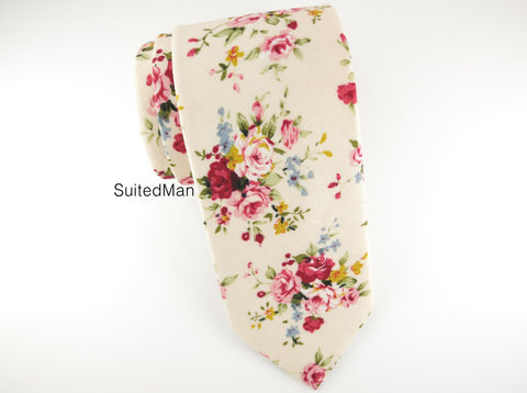 Floral Tie, English Rose