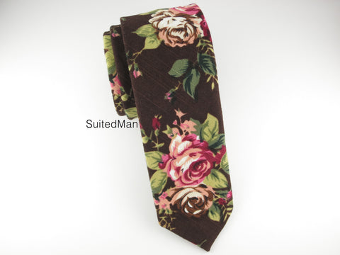 Floral Tie, Autumn Bloom