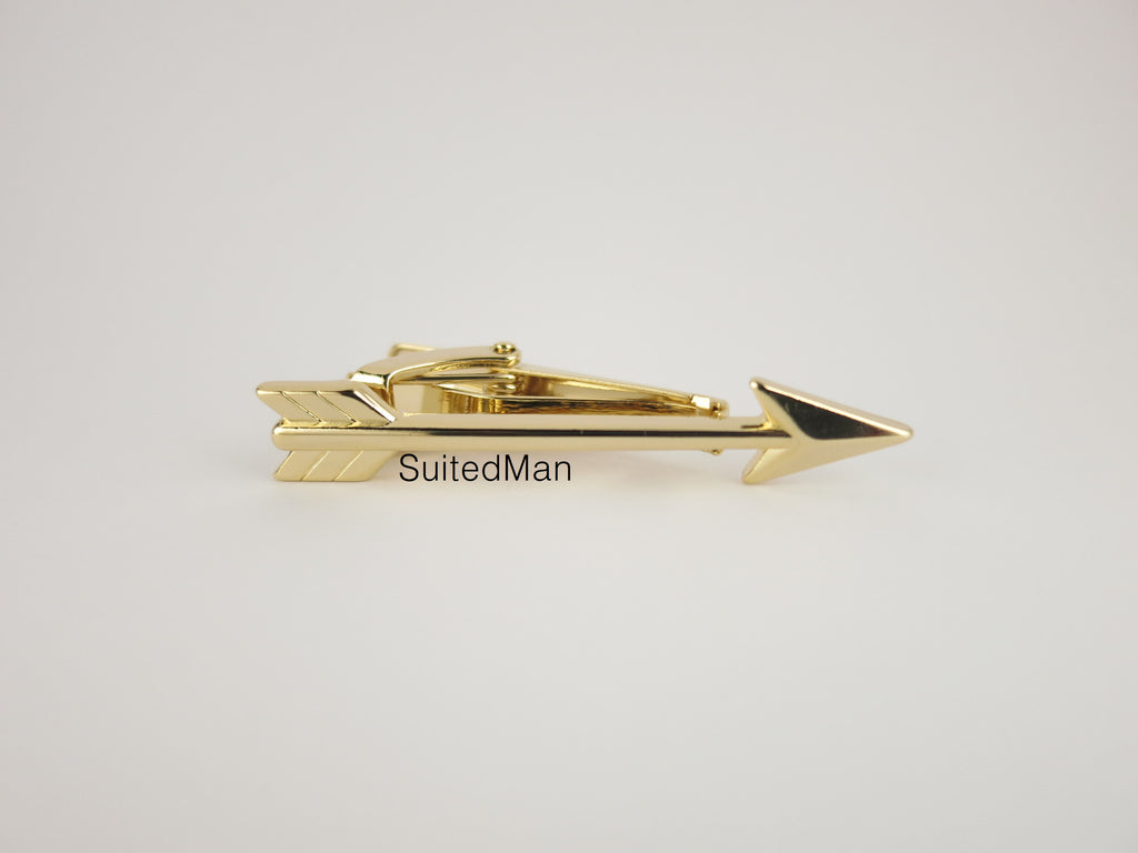 Arrow Tie Clip, Gold - SuitedMan