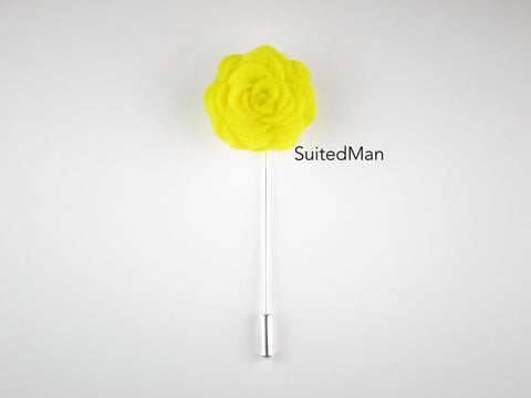Pin lapel flower felt rosette canary yellow suitedman pin lapel flower felt rosette canary yellow mightylinksfo