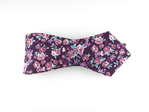 Floral Bow Tie, Mille Fleurs, Pointed End