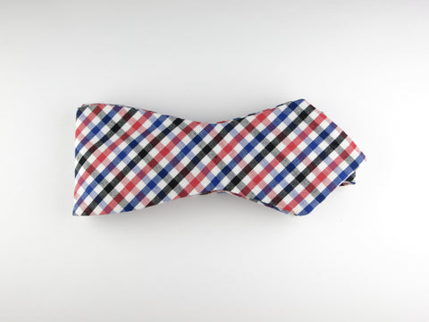 Bow Tie, Gingham, Multicolor, Pointed End