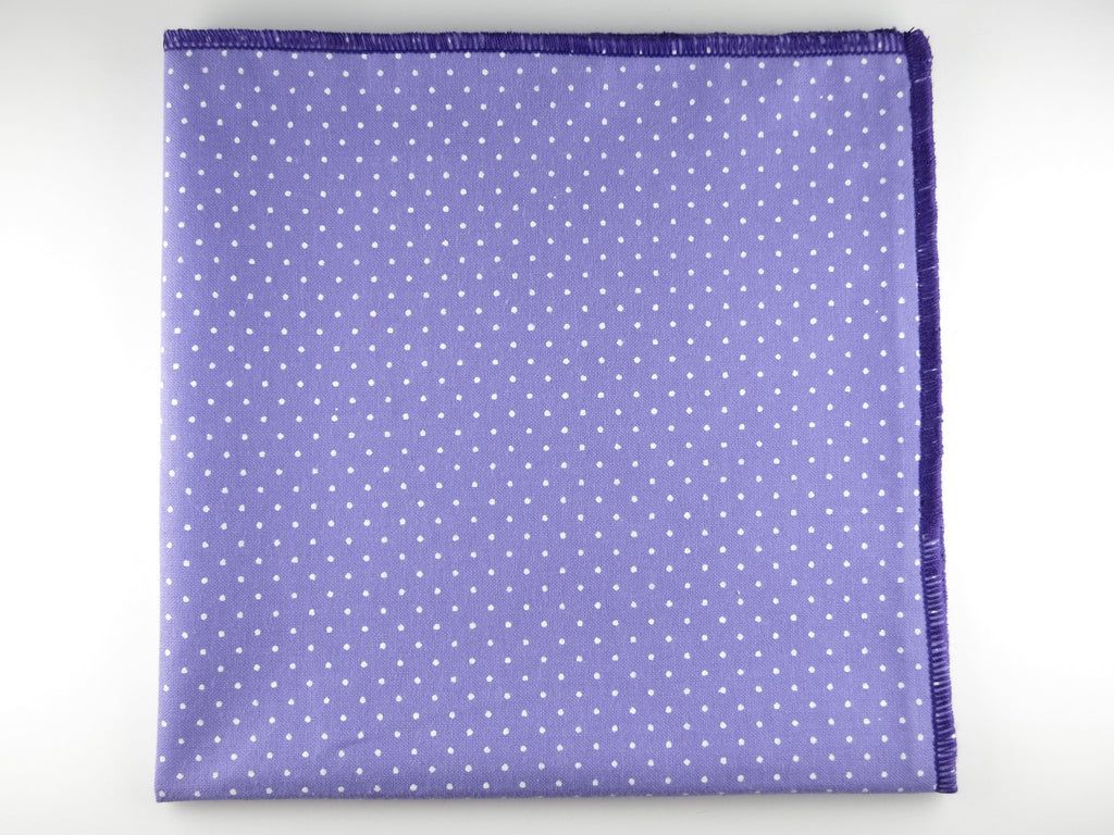 Pocket Square, Pindot, Purple - SuitedMan