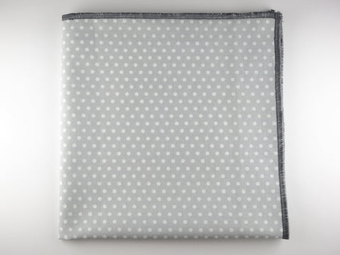 Pocket Square, Polka Dots, Gray/White