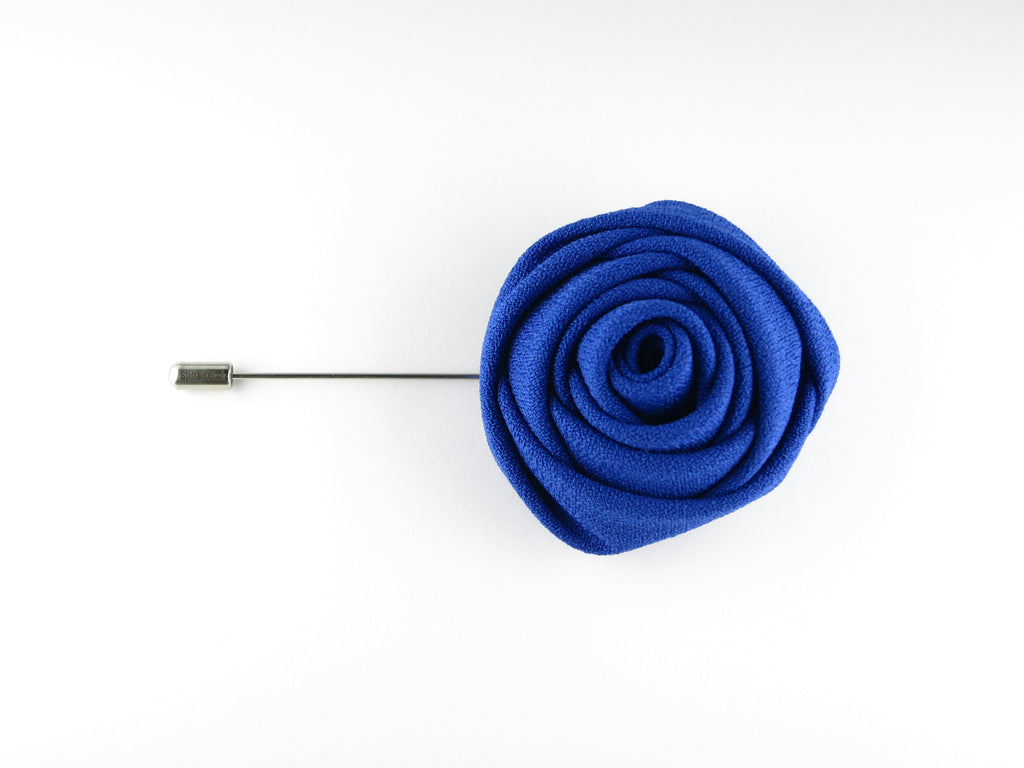 Lapel Flower, Rose, Blue Violet - SuitedMan