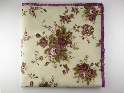 Pocket Square, Plum Rose
