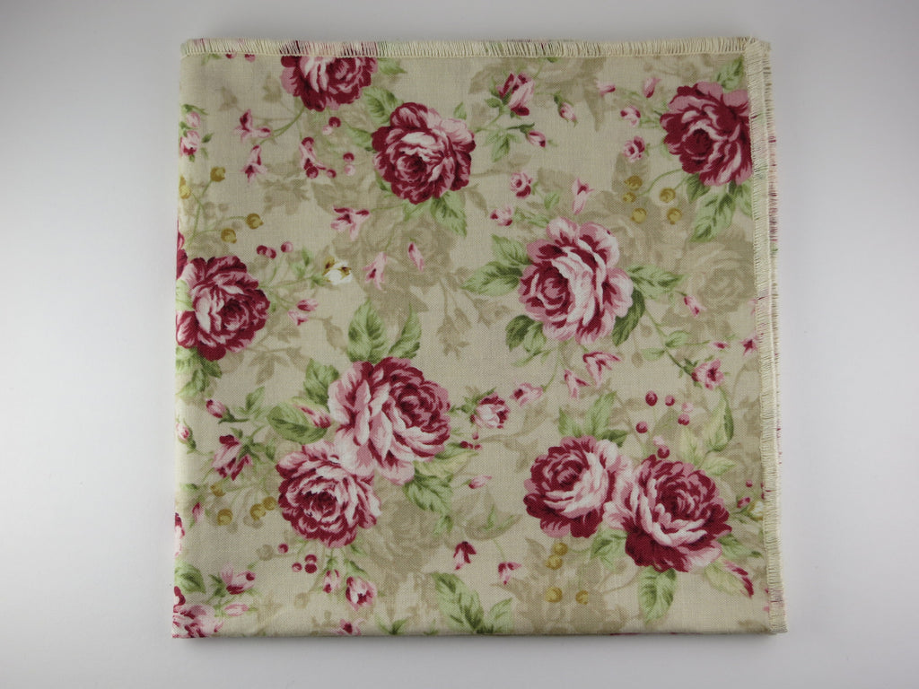 Pocket Square, Vintage Rose - SuitedMan