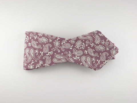 Bow Tie, Vintage Pink Paisley, Pointed End - SuitedMan