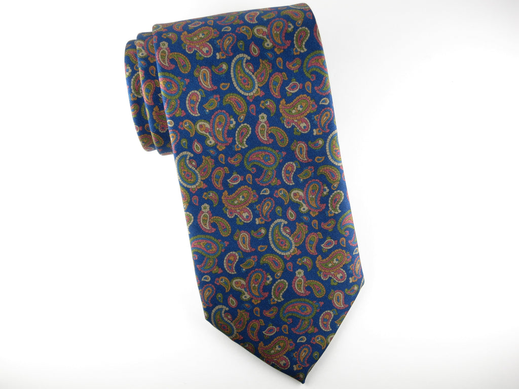 Tie, Paisley, Antique Blues - SuitedMan