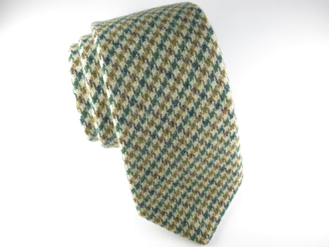 SuitedMan D'Italia Tie, Houndstooth, Green/Tan