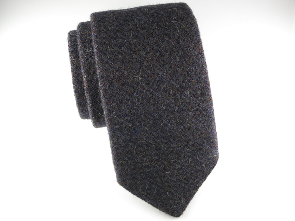 SuitedMan D'Italia Tie, Wool Melange Purple - SuitedMan