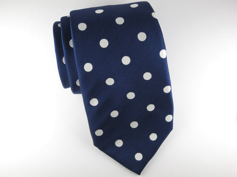 Tie, Dots, Navy/White - SuitedMan