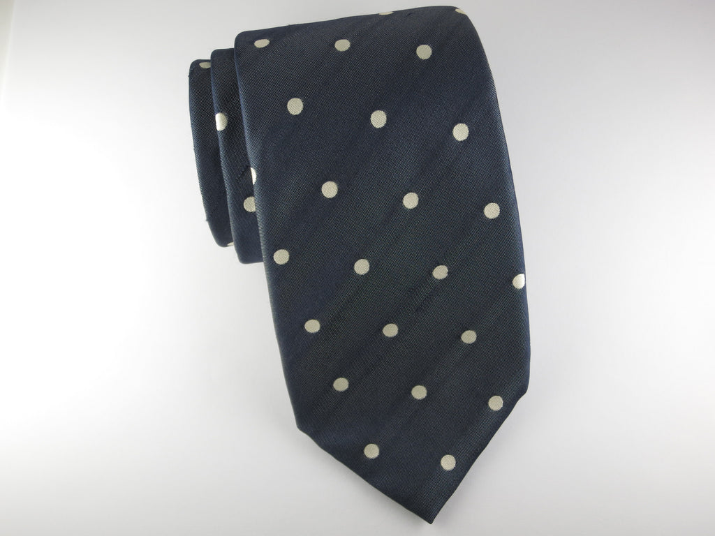Tie, Polka Dots, Navy/Cream - SuitedMan