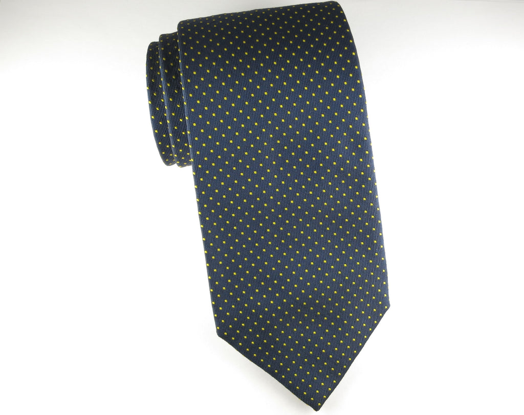 Tie, Pindot, Navy/Gold - SuitedMan