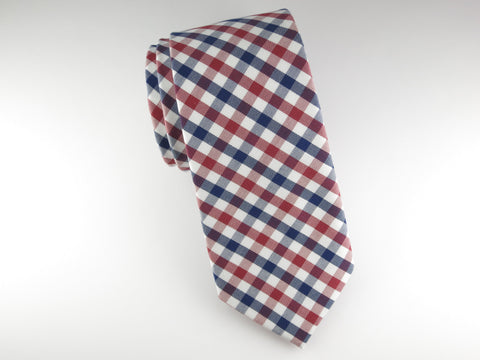 Tie, Gingham, Red/Blue