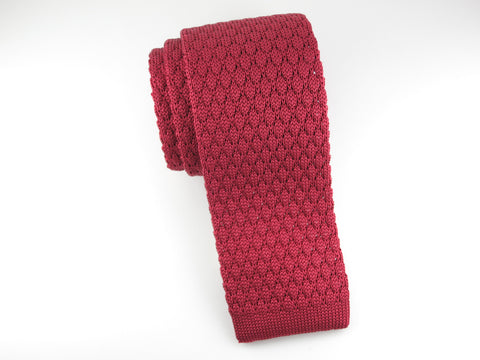Knit Tie, Textured, Red
