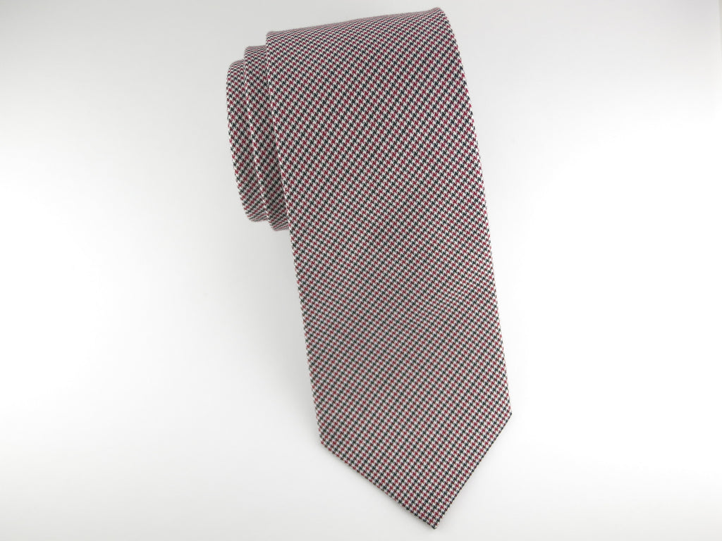 Tie, Puppytooth, Black/Red - SuitedMan