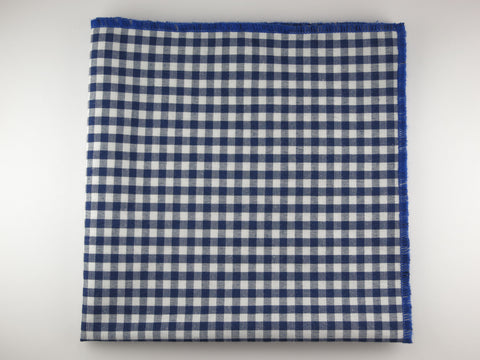 Pocket Square, Gingham, Navy/Blue