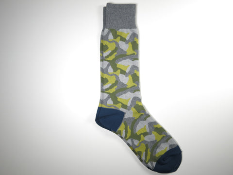 Socks, Camo, Blue/Green/Gray