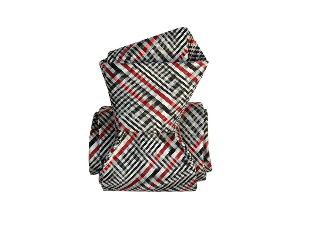 SuitedMan D'Italia Tie, Plaid, Red/Black - SuitedMan