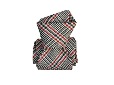 SuitedMan D'Italia Tie, Plaid, Red/Black
