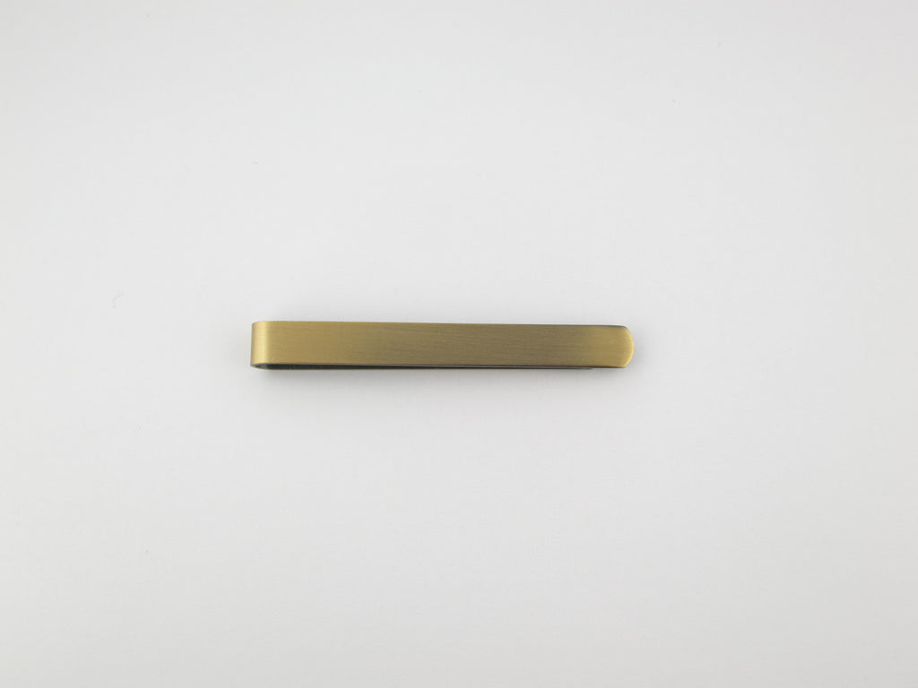 "Tie Bar, 2"", Antique Gold - SuitedMan"