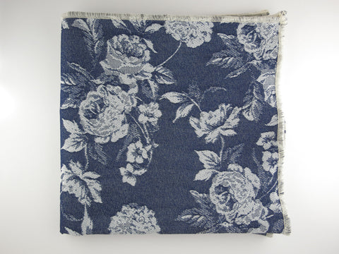 Pocket Square, Denim Floral