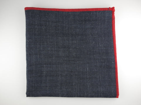 Pocket Square, Chambray Denim - SuitedMan