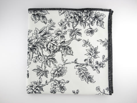 Pocket Square, Black Rose - SuitedMan