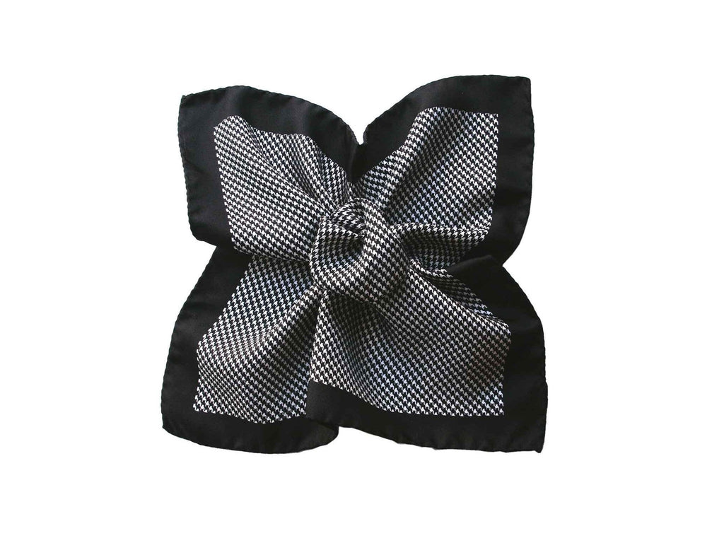 Pocket Square, Houndstooth, Onyx - SuitedMan
