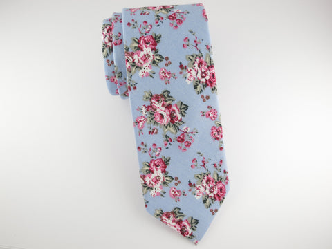 Floral Tie, Blue Vintage Bloom