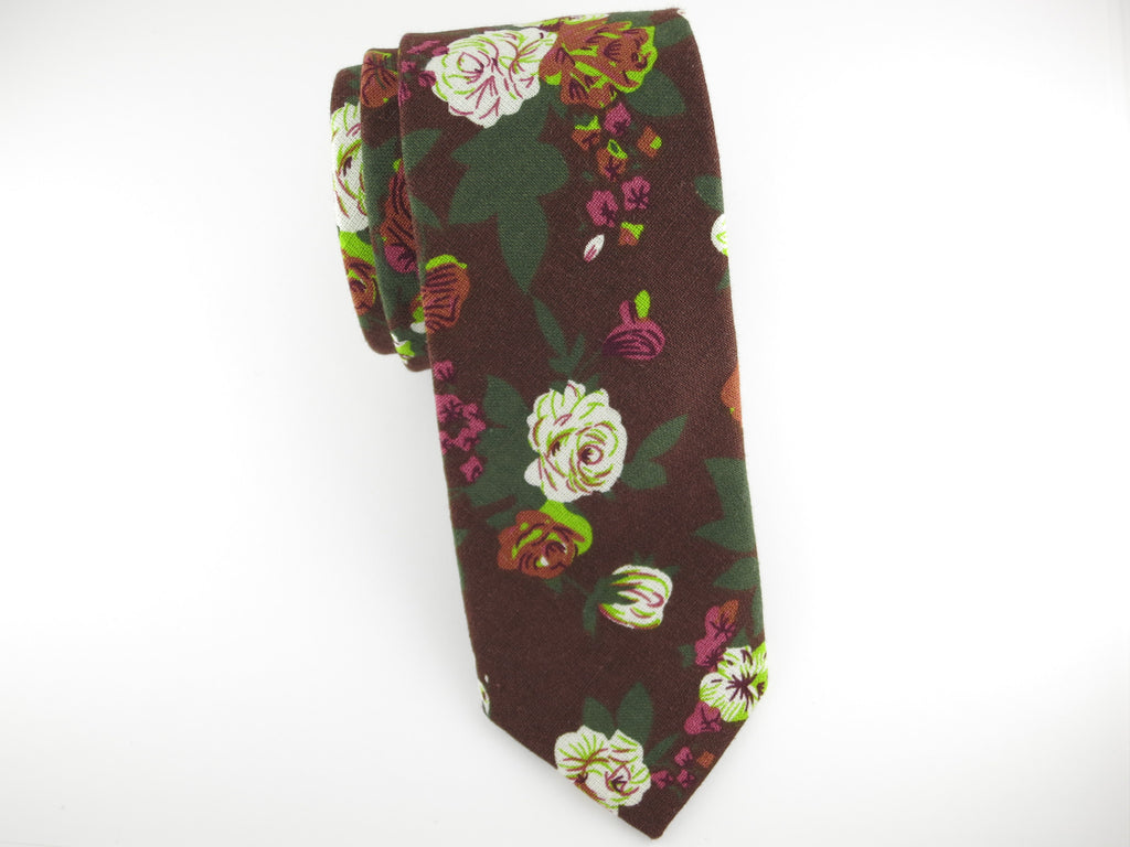 Floral Tie, Autumn Rose - SuitedMan