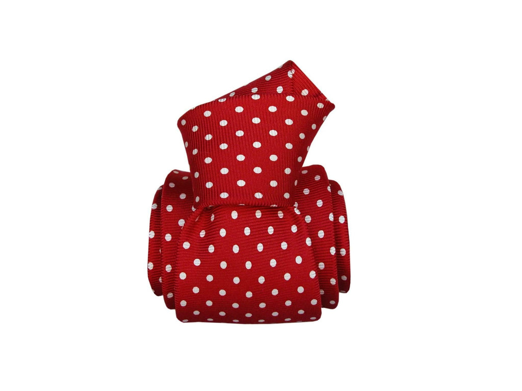 Tie, Polka Dots, Red/White - SuitedMan