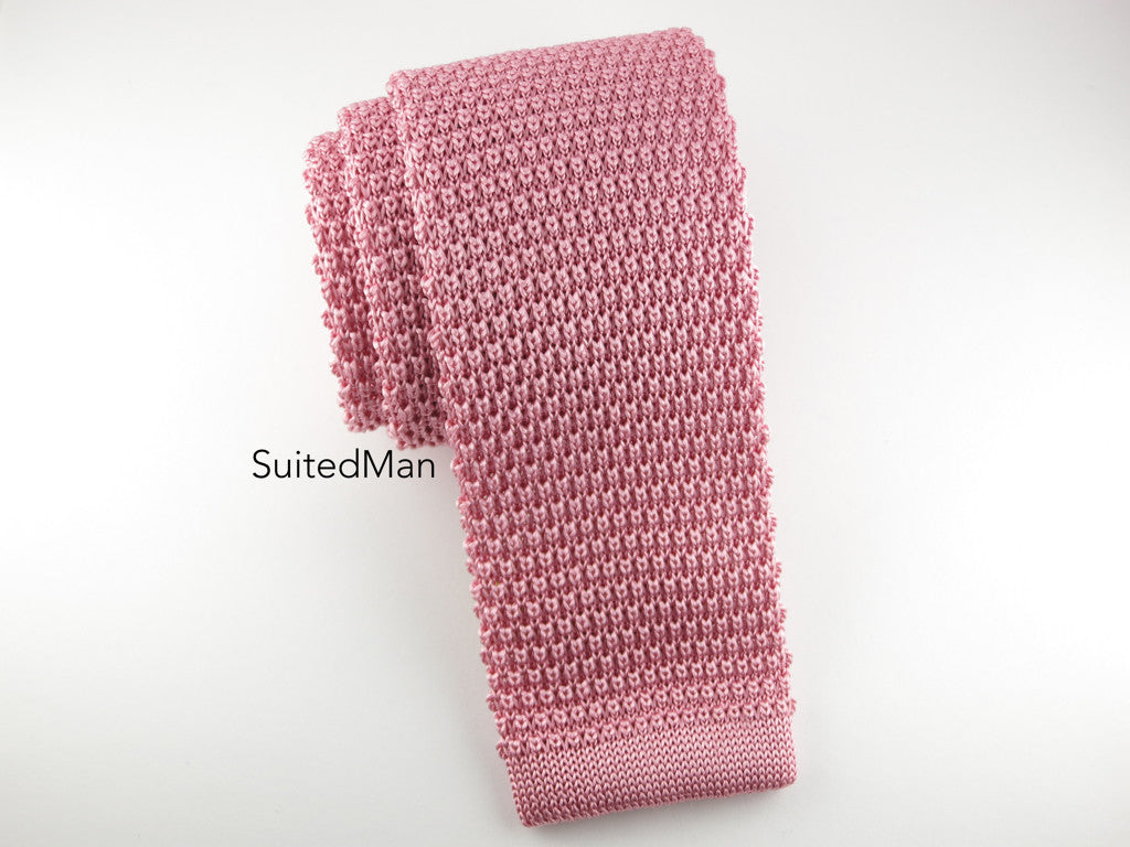 Knit Tie, Antique Rose - SuitedMan