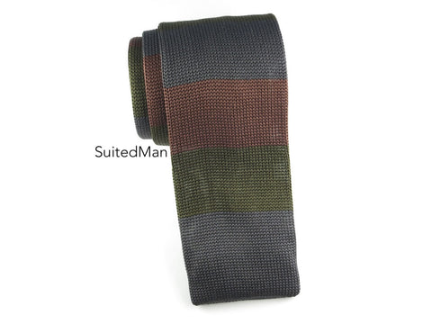 Knit Tie, Camo Colorblock - SuitedMan