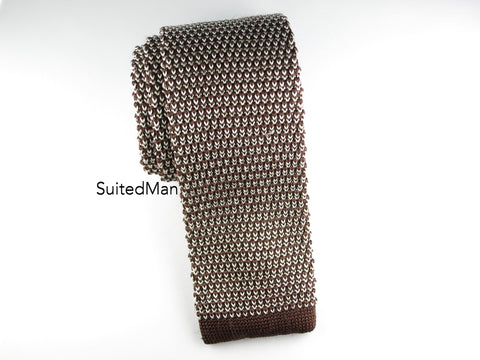 Knit Tie, Chocolate Pearl