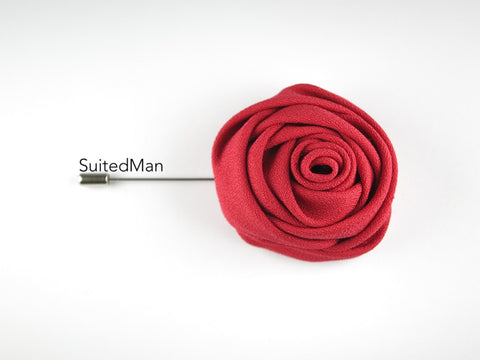 Lapel Flower, Rose, Red - SuitedMan